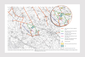 map showing visibility of 5mw solar farm approved in skelton, cumbria