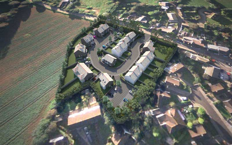 new housing development in goldsithney, cornwall