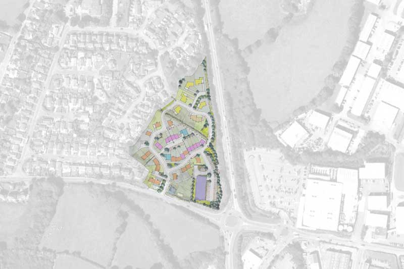 new housing development in mabe, cornwall