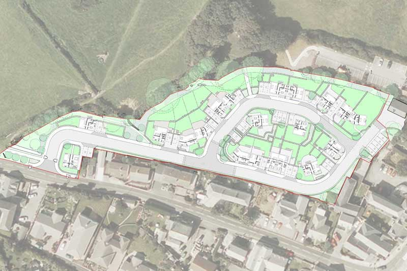new housing development in Tintagel, cornwall